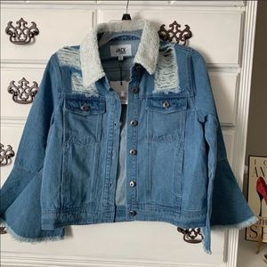 Jack by BB Dakota Distressed Jean Jacket